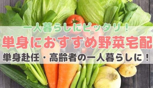 一人暮らしの方におすすめの野菜宅配サービス【単身世帯にピッタリな野菜通販】