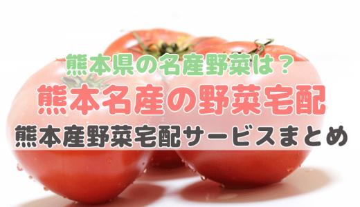 熊本産の野菜が買える宅配サービス【熊本県の特産野菜】